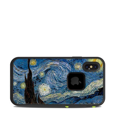 Lifeproof iPhone X Fre Case Skin - Starry Night
