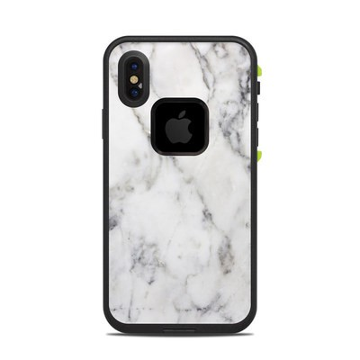 Lifeproof iPhone X Fre Case Skin - White Marble