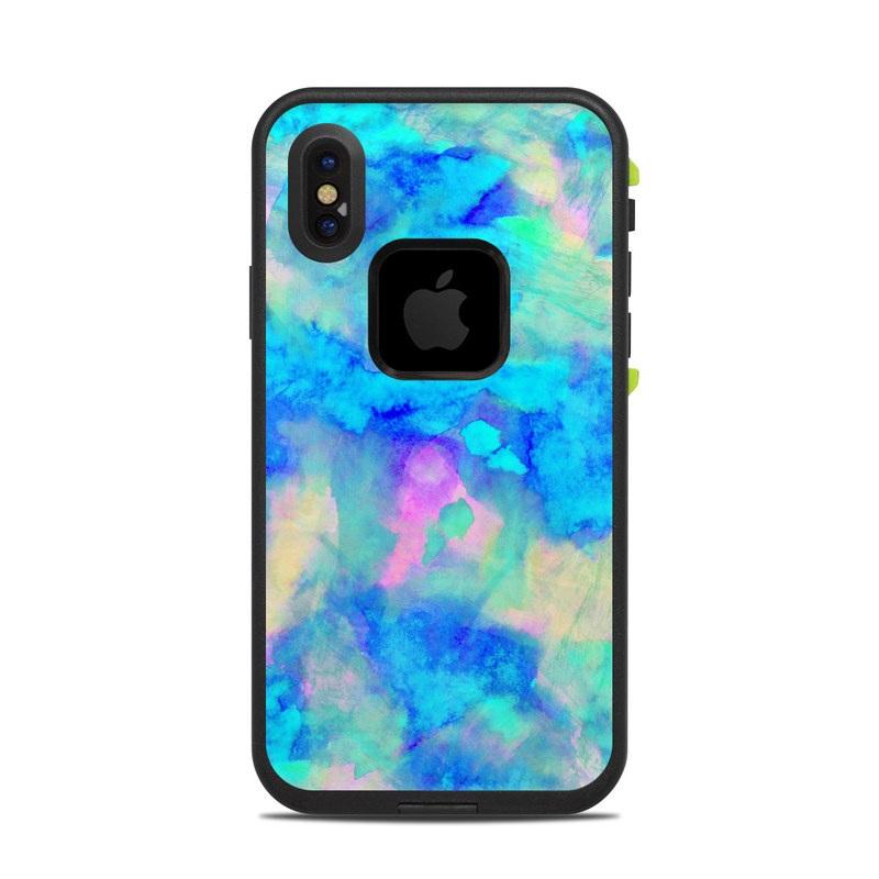 san francisco af0dc ab196 Lifeproof iPhone X Fre Case Skin - Electrify Ice Blue