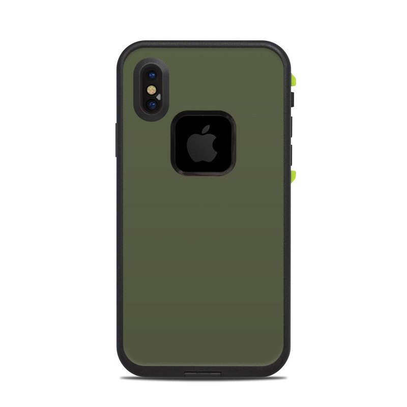 free shipping 76c92 ccdbc Lifeproof iPhone X Fre Case Skin - Solid State Olive Drab