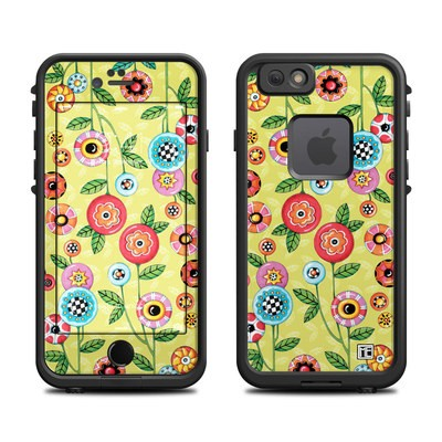 Lifeproof iPhone 6 Fre Case Skin - Button Flowers