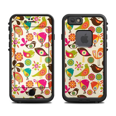 Lifeproof iPhone 6 Fre Case Skin - Bird Flowers