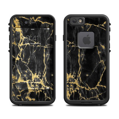 Lifeproof iPhone 6 Fre Case Skin - Black Gold Marble