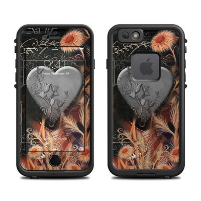 Lifeproof iPhone 6 Fre Case Skin - Black Lace Flower