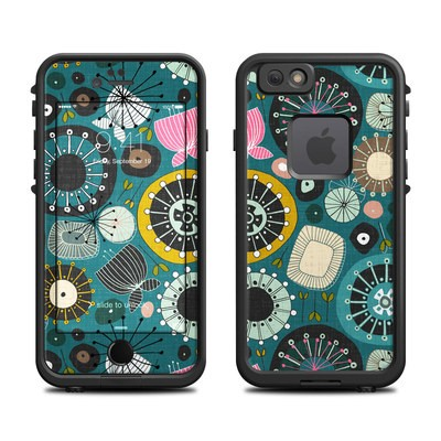 Lifeproof iPhone 6 Fre Case Skin - Blooms Teal