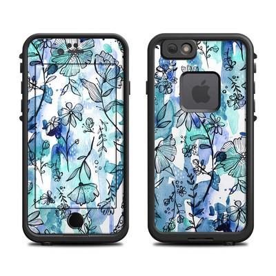 Lifeproof iPhone 6 Fre Case Skin - Blue Ink Floral
