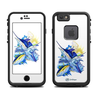 Lifeproof iPhone 6 Fre Case Skin - Blue White and Yellow