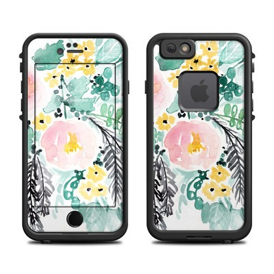 Lifeproof iPhone 6 Fre Case Skin - Blushed Flowers