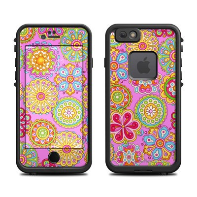 Lifeproof iPhone 6 Fre Case Skin - Bright Flowers
