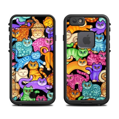 Lifeproof iPhone 6 Fre Case Skin - Colorful Kittens