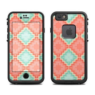 Lifeproof iPhone 6 Fre Case Skin - Coral Diamond