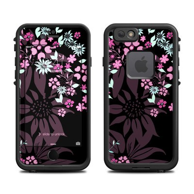 Lifeproof iPhone 6 Fre Case Skin - Dark Flowers