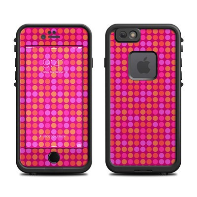 Lifeproof iPhone 6 Fre Case Skin - Dots Pink