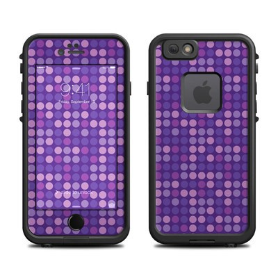 Lifeproof iPhone 6 Fre Case Skin - Dots Purple