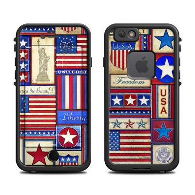 Lifeproof iPhone 6 Fre Case Skin - Flag Patchwork
