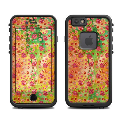 Lifeproof iPhone 6 Fre Case Skin - Garden Flowers