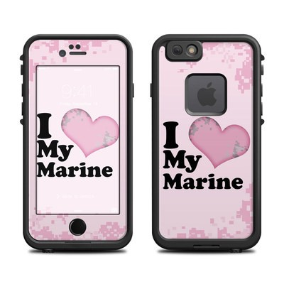 Lifeproof iPhone 6 Fre Case Skin - I Love My Marine