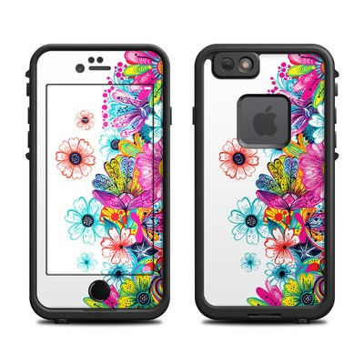 Lifeproof iPhone 6 Fre Case Skin - Intense Flowers
