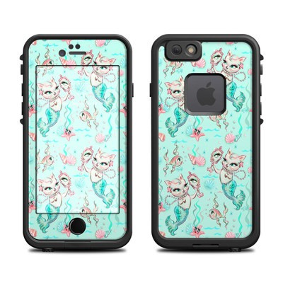 Lifeproof iPhone 6 Fre Case Skin - Merkittens with Pearls Aqua
