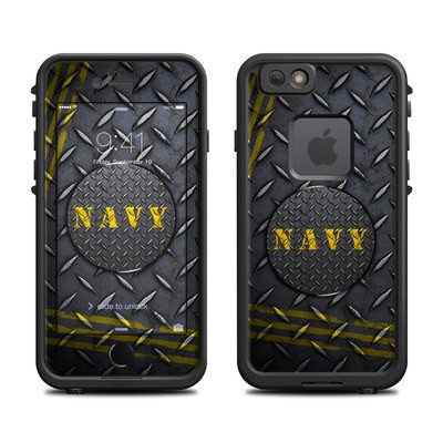 Lifeproof iPhone 6 Fre Case Skin - Navy Diamond Plate