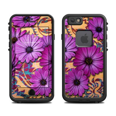 Lifeproof iPhone 6 Fre Case Skin - Purple Daisy Damask