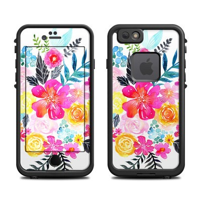 Lifeproof iPhone 6 Fre Case Skin - Pink Bouquet