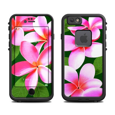 Lifeproof iPhone 6 Fre Case Skin - Pink Plumerias