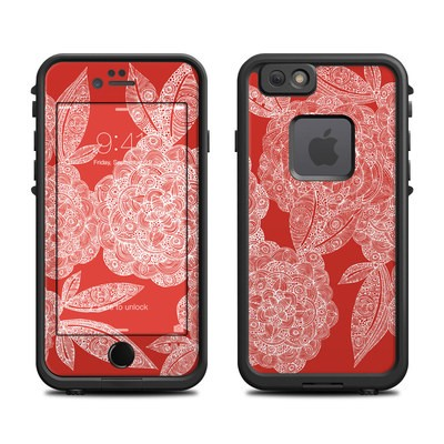 Lifeproof iPhone 6 Fre Case Skin - Red Dahlias