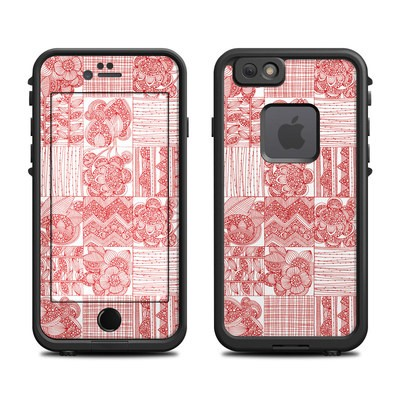Lifeproof iPhone 6 Fre Case Skin - Red Quilt