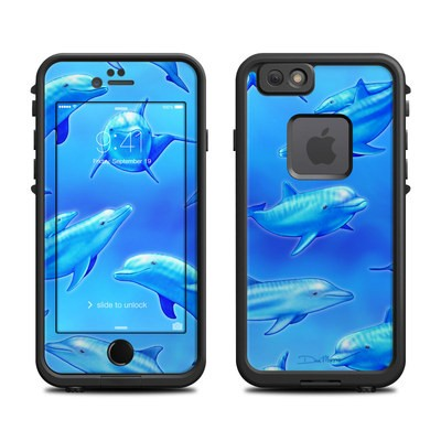 Lifeproof iPhone 6 Fre Case Skin - Swimming Dolphins