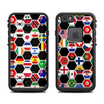 Lifeproof iPhone 6 Fre Case Skin - Soccer Flags