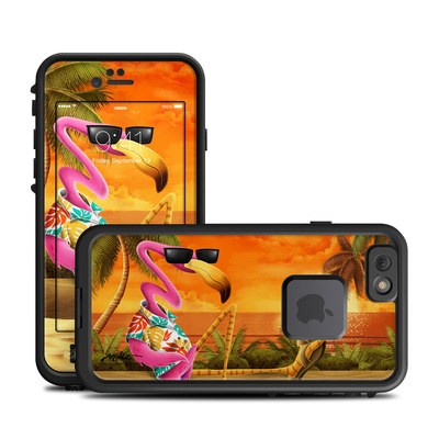 Lifeproof iPhone 6 Fre Case Skin - Sunset Flamingo