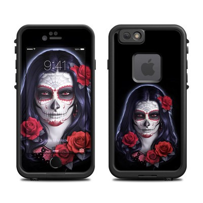 Lifeproof iPhone 6 Fre Case Skin - Sugar Skull Rose