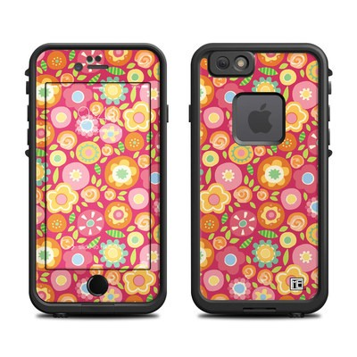 Lifeproof iPhone 6 Fre Case Skin - Flowers Squished