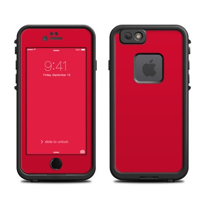 Lifeproof iPhone 6 Fre Case Skin - Solid State Red