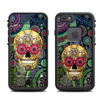 Lifeproof iPhone 6 Fre Case Skin - Sugar Skull Paisley