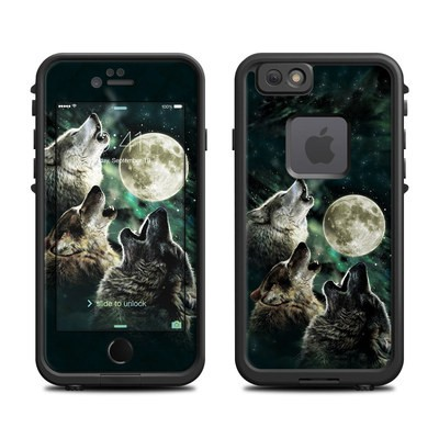 Lifeproof iPhone 6 Fre Case Skin - Three Wolf Moon
