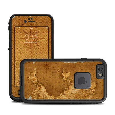 Lifeproof iPhone 6 Fre Case Skin - Upside Down Map