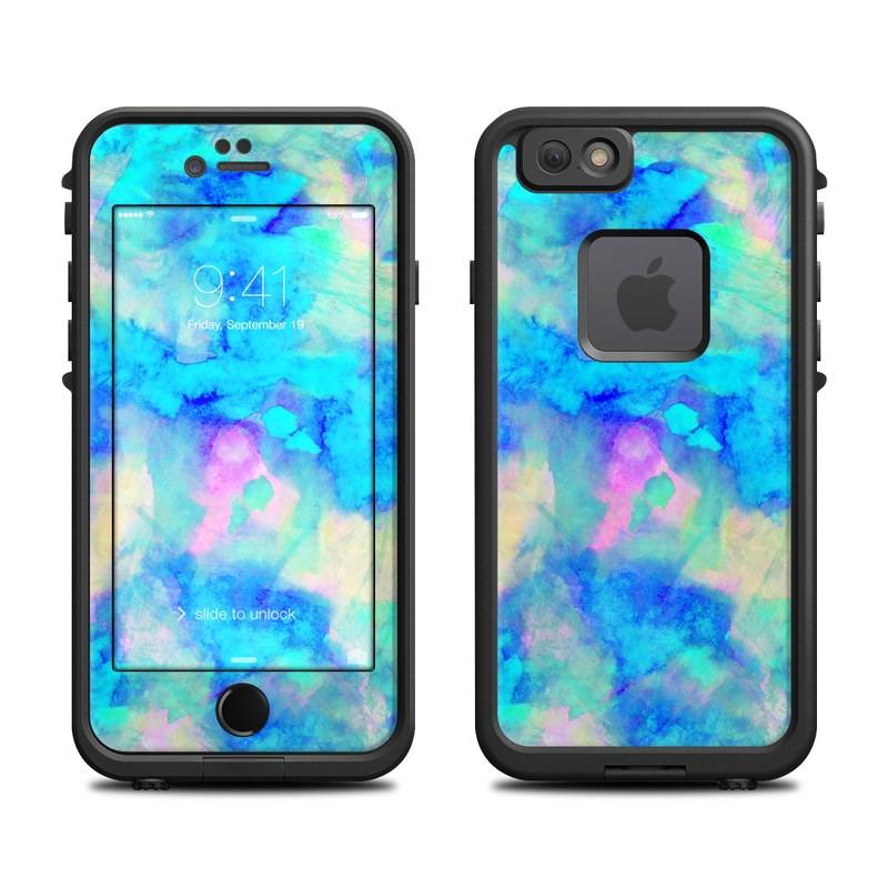 Lifeproof iphone 6 fre case skin electrify ice blue