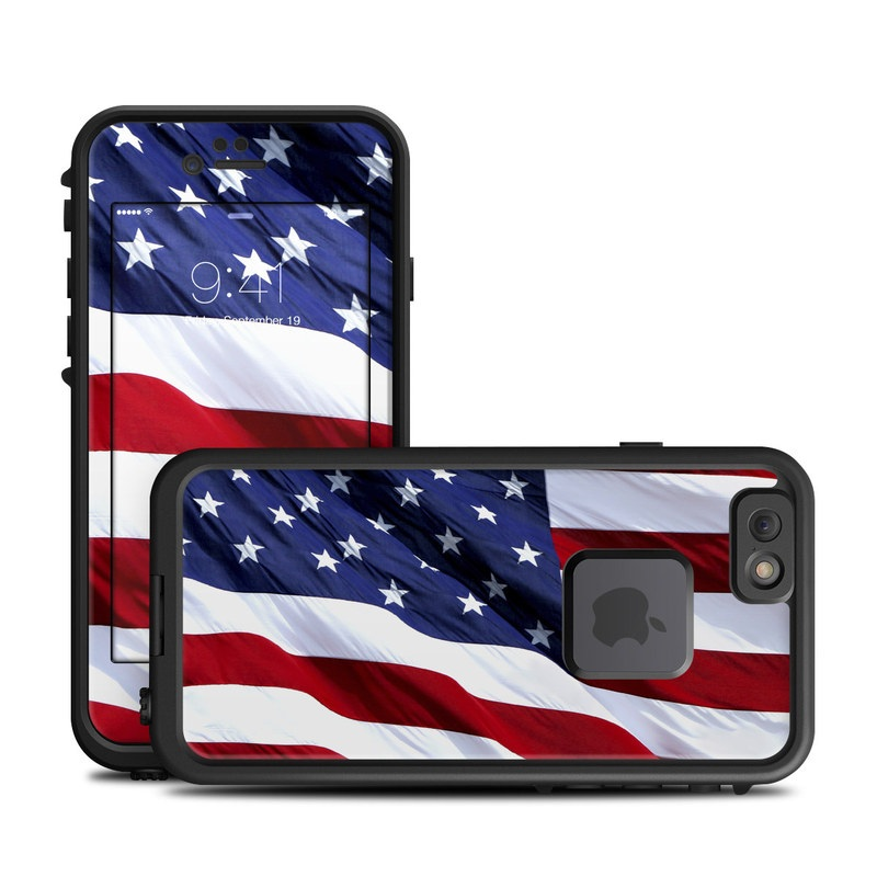 lifeproof iphone 6 fre case skin patriotic by flags decalgirl