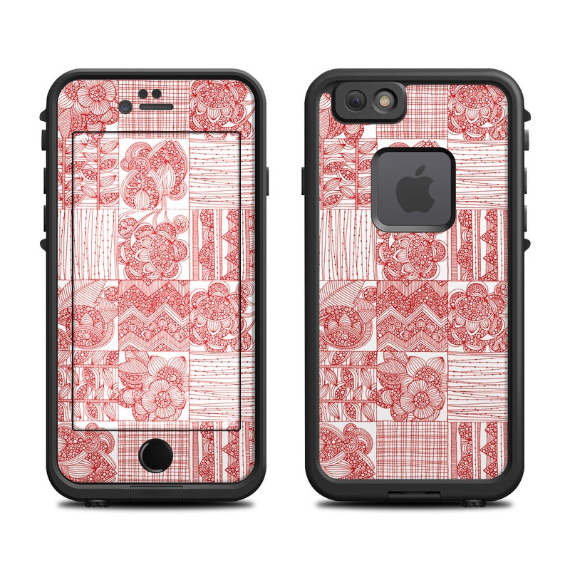 newest 1bb21 6eae1 Lifeproof iPhone 6 Fre Case Skin - Red Quilt