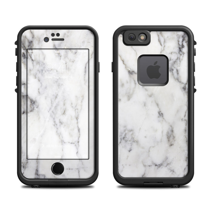 Lifeproof iphone 6 fre case skin white marble