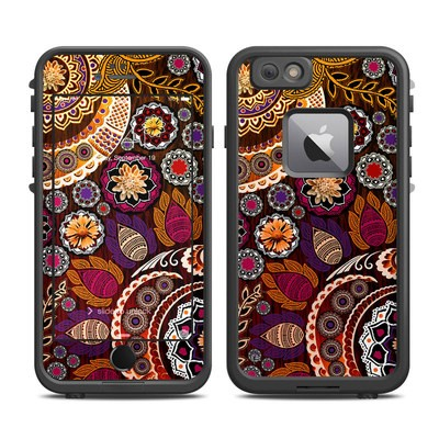 Lifeproof iPhone 6 Plus Fre Case Skin - Autumn Mehndi