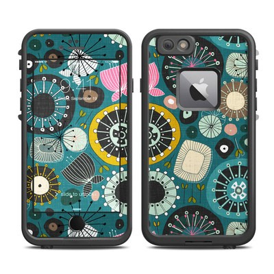 Lifeproof iPhone 6 Plus Fre Case Skin - Blooms Teal