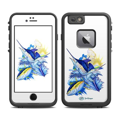 Lifeproof iPhone 6 Plus Fre Case Skin - Blue White and Yellow