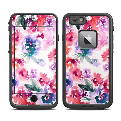 Lifeproof iPhone 6 Plus Fre Case Skin - Blurred Flowers