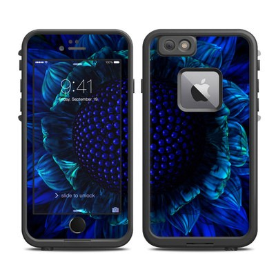 Lifeproof iPhone 6 Plus Fre Case Skin - Cobalt Daisy