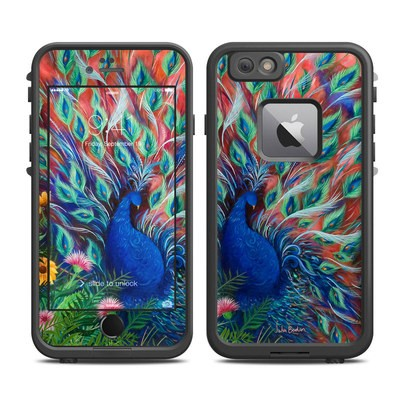 Lifeproof iPhone 6 Plus Fre Case Skin - Coral Peacock