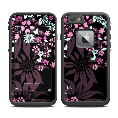 Lifeproof iPhone 6 Plus Fre Case Skin - Dark Flowers
