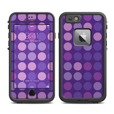 Lifeproof iPhone 6 Plus Fre Case Skin - Big Dots Purple